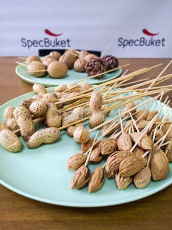 Букет из орехов пошаговая инструкция